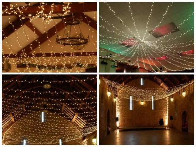 Fairy lights at wedding