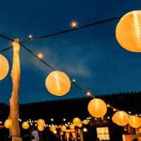 Lanterns at a wedding