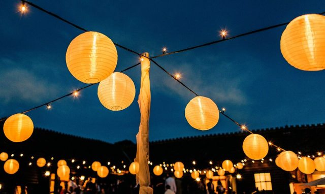 Lanterns at a wedding