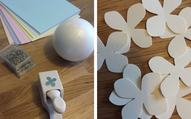 DIY flower paper ball
